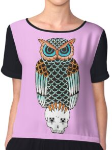 Owl-a-gram 2 Chiffon Top