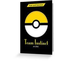 Team Instinct Greeting Card
