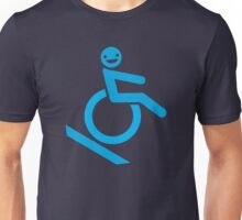 guy smiling in a wheelchair Unisex T-Shirt