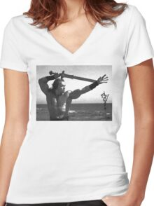 Barbarian Women's Fitted V-Neck T-Shirt