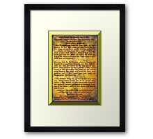 LIVE YOUR LIFE OF SIGNIFICANCE - BY DIVINE DESIGN! Framed Print