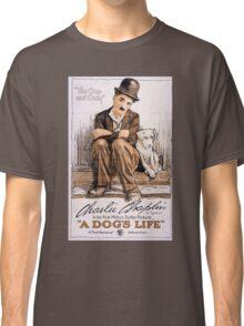 Charlie Chaplin A Dogs Life Classic T-Shirt