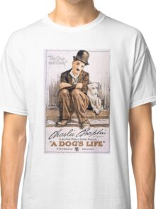 Charlie Chaplin A Dogs Life Classic T-Shirt