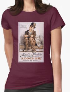 Charlie Chaplin A Dogs Life Womens Fitted T-Shirt