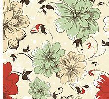Flower Pattern Phone Case by Averyop