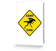 Xeno Xing Greeting Card