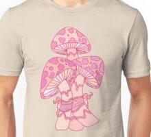 Pink Mushrooms Unisex T-Shirt