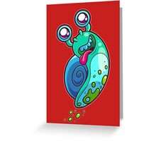 Flight of the Snail Greeting Card