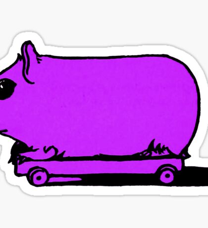 Retro Vintage Hamster on Wheels Illustration Sticker