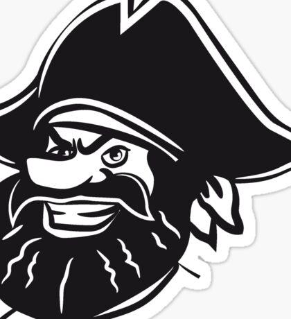 Pirat dreispitz lachen  Sticker