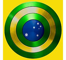 CAPTAIN AUSTRALIA - Captain America shield inspired Oz version Photographic Print