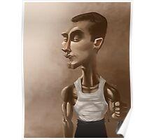 "Greg ""IdrA"" Fields Professional Gamer Caricature Poster"