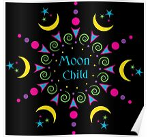 Moon Child Mandala Poster