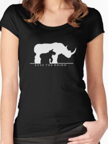Save The Rhino Women's Fitted Scoop T-Shirt