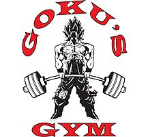Goku's Gym (Black and Red Logo) Photographic Print