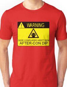 WARNING - AFTER-CON DIP (DUTCH VERSION) Unisex T-Shirt