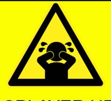 WARNING - AFTER-CON DIP (DUTCH VERSION) Sticker
