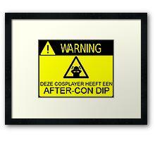 WARNING - AFTER-CON DIP (DUTCH VERSION) Framed Print