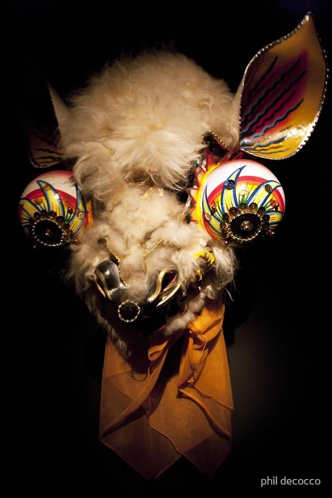 Bug Eyed Llama by phil decocco