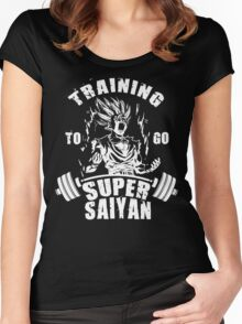 Training To Go Super Saiyan (Gohan) Women's Fitted Scoop T-Shirt