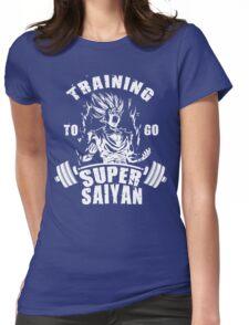 Training To Go Super Saiyan (Gohan) Womens Fitted T-Shirt