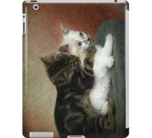 Kittens at play: Huggies and Pampers...  iPad Case/Skin