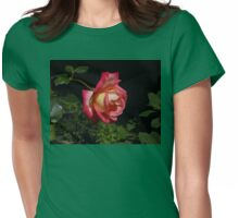 Sunkissed Rose in Profile Womens Fitted T-Shirt