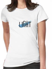 LIGHT: Flow (Blue) Womens Fitted T-Shirt