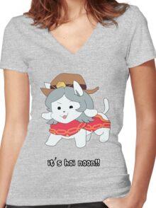 it's h0i n00n!! Women's Fitted V-Neck T-Shirt