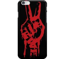 RWB Victory Peace Red Right Hand on Black iPhone Case/Skin