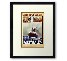 Steamship Poster V2 Framed Print