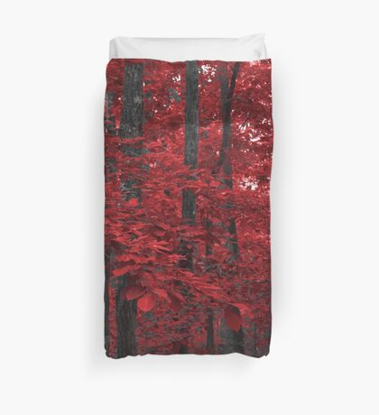The Red Forest Duvet Cover