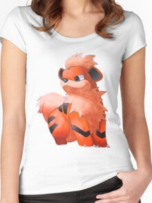 Pokemon Growlithe Women's Fitted Scoop T-Shirt