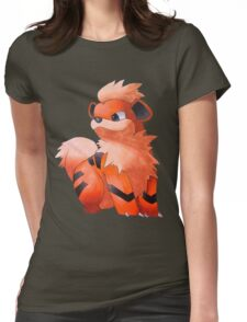 Pokemon Growlithe Womens Fitted T-Shirt