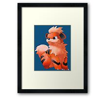 Pokemon Growlithe Framed Print