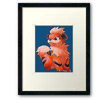 Pokemon Growlithe Framed Print