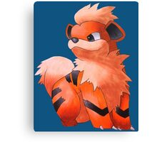 Pokemon Growlithe Canvas Print