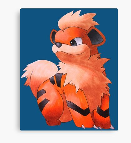Pokemon Growlithe Canvas Print