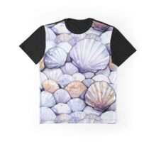 Sea Shells Amethyst Graphic T-Shirt