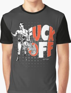 Fuck Off Offensive Vintage Boxing Fighter Graphic T-Shirt