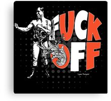 Fuck Off Offensive Vintage Boxing Fighter Canvas Print