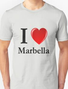 I love Marbella - I heart Marbella Unisex T-Shirt