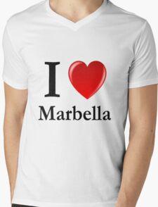 I love Marbella - I heart Marbella Mens V-Neck T-Shirt