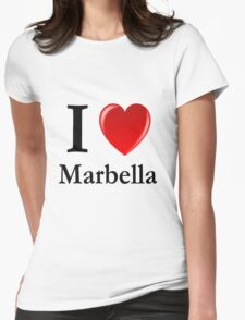 I love Marbella - I heart Marbella Womens Fitted T-Shirt