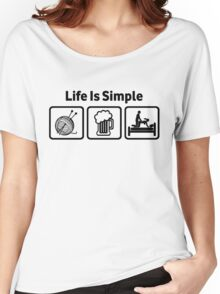 Knitting Life Is Simple Funny Rude T Shirt Women's Relaxed Fit T-Shirt