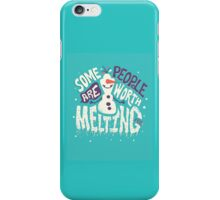 Frozen: Some People Are Worth Melting For iPhone Case/Skin