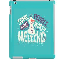 Frozen: Some People Are Worth Melting For iPad Case/Skin