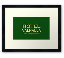 Hotel Valhalla Framed Print