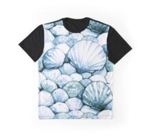 Sea Shells Teal Graphic T-Shirt