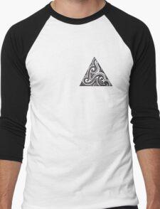 Triangle Doodle Men's Baseball ¾ T-Shirt